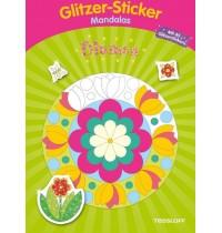 Tessloff - Malen, Rätseln & mehr - Glitzer-Sticker-Mandalas - Blumen