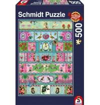 Schmidt Spiele - Paradies-Banderolen, 500 Teile