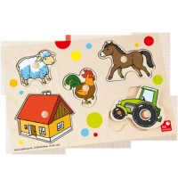 Selecta - Puzzle Bauernhof, 5 Teile