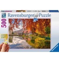Ravensburger Puzzle - Mühle am Blautopf, 500 XXL Teile