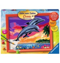 Ravensburger Spiel - Malen nach Zahlen Classic - Welt der Delfine