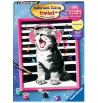 Ravensburger Spiel - Malen nach Zahlen Trend - Singing Cat