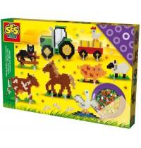 SES Creative - Bügelperlen Bauernhof