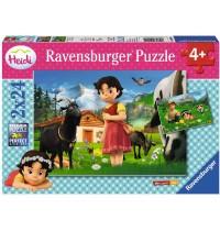 Ravensburger Puzzle - Heidi in den Alpen, 2x24 Teile