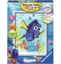 Ravensburger Spiel - Malen nach Zahlen mit farbigen Motivlinien - Dorie und Nemo