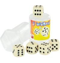 Nürnberger Spielkarten - 5 Würfel - im Drehpack - elfenbein - 20 mm
