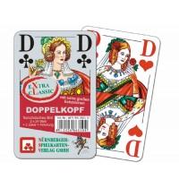 Nürnberger Spielkarten - Doppelkopf eXtra cLassic, französisches Bild im Klarsichtetui