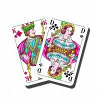 Nürnberger Spielkarten - Doppelkopf Premium Leinen, französisches Bild im Klarsichtetui