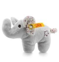 Steiff - Babywelt - Knistertiere - Mini Knister-Elefant mit Rassel, grau, 11cm