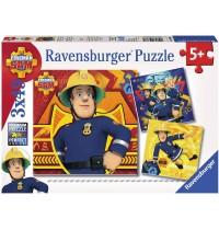Ravensburger Puzzle - Bei Gefahr Sam rufen, 3x49 Teile