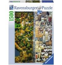 Ravensburger Puzzle - Geteilte Stadt, 1500 Teile