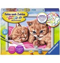 Ravensburger Spiel - Malen nach Zahlen mit farbigen Motivlinien - Kuschelfreunde
