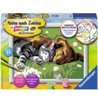 Ravensburger Spiel - Malen nach Zahlen mit farbigen Motivlinien - Tiefer Schlaf