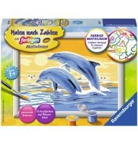 Ravensburger Spiel - Malen nach Zahlen mit farbigen Motivlinien - Freunde des Meeres