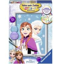 Ravensburger Spiel - Malen nach Zahlen mit farbigen Motivlinien - Frozen