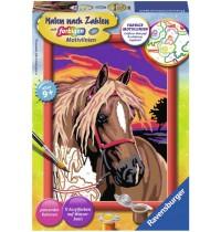 Ravensburger Spiel - Malen nach Zahlen mit farbigen Motivlinien - Pferdetraum