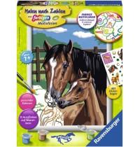 Ravensburger Spiel - Malen nach Zahlen mit farbigen Motivlinien - Pferdeliebe