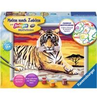 Ravensburger Spiel - Malen nach Zahlen mit farbigen Motivlinien - Majestätischer Tiger