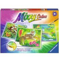 Ravensburger Spiel - Malen nach Zahlen - Mixxy Colors - Exotische Tiere