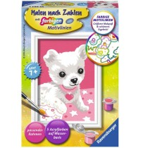 Ravensburger Spiel - Malen nach Zahlen mit farbigen Motivlinien - Chihuahua