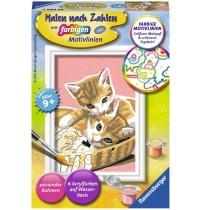 Ravensburger Spiel - Malen nach Zahlen mit farbigen Motivlinien - Katzenbabys