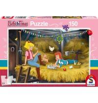 Schmidt Spiele - Puzzle Bibi & Tina - Auf dem Heuboden, 150 Teile