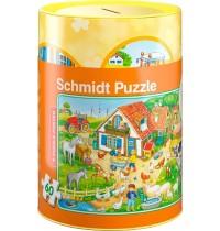 Schmidt Spiele - Spardose und Puzzle - Bauernhof, 60 Teile
