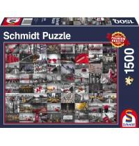 Schmidt Spiele - Puzzle - Stadtbilder, 1500 Teile