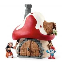Schleich - Die Schlümpfe - Schlumpf Haus mit 2 Figuren