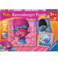 Ravensburger Puzzle - Quietschbunte Freunde, 3x49 Teile