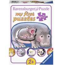 Ravensburger Puzzle - my first Puzzle - Hallo Tierbabys, 6x2 Teile