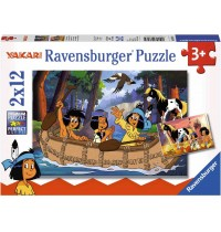 Ravensburger Puzzle - Yakaris Abenteuer, 2x12 Teile