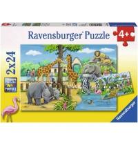 Ravensburger Puzzle - Willkommen im Zoo, 2x24 Teile