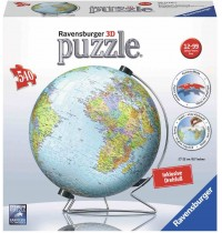 Ravensburger Puzzle - 3D Puzzles - Globus in deutscher Sprache, 540 Teile