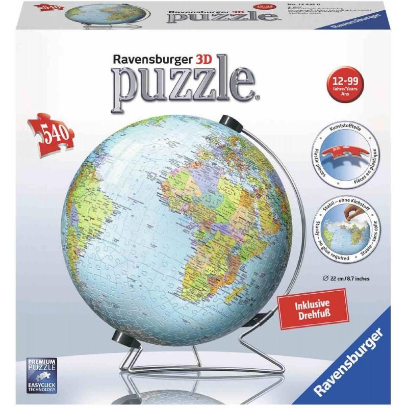 Ravensburger Puzzle - 3D Puzzles - Globus in deutscher Sprache, 540 ...