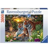 Ravensburger Puzzle - Versteckte Tiger, 3000 Teile