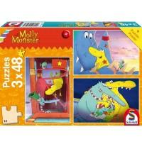 Schmidt Spiele - Molly Monster - Große Schwester, Molly Monster, 48 Teile