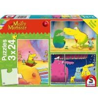 Schmidt Spiele - Molly Monster - Molly Monster bekommt ein Geschwisterchen, 60 Teile