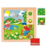 Jumbo Spiele - 16 Teile Holzpuzzle - Frühling