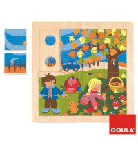Jumbo Spiele - 16 Teile Holzpuzzle - Herbst