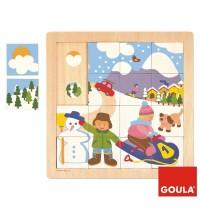Jumbo Spiele - 16 Teile Holzpuzzle - Winter