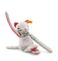 Steiff - Babywelt - Kuscheltiere für Babys - Blossom Babies Katze, grau, 28cm