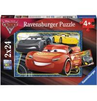 Ravensburger Puzzle - Disney™ Cars - Abenteuer mit Lightning McQueen, 24 Teile