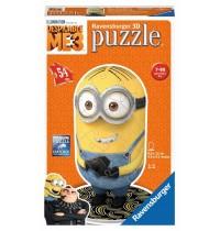 Ravensburger Puzzle - 3D Puzzles - Shaped Minion - Despicable Me 3 Motiv 1, 54 Teile