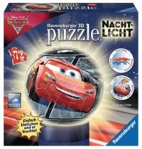 Ravensburger Puzzle - 3D Puzzles - Nachtlicht Cars 3, 72 Teile