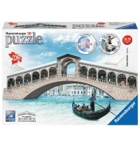 Ravensburger Puzzle - 3D Puzzles - Rialtobrücke, 216 Teile