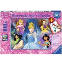 Ravensburger Puzzle - Disney™ Prinzessin XXL plus Coloring Booklet, 100 Teile