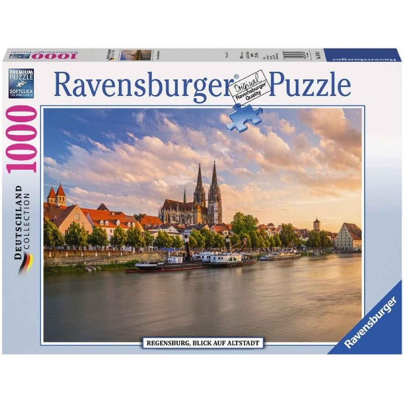 Ravensburger Puzzle - Regensburg, Blick auf die Altstadt, 1000 ...