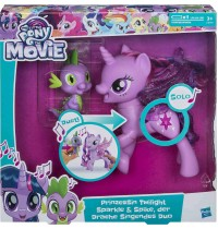 Hasbro -  My Little Pony Movie Prinzessin Twilight Sparkle & Spike, der Drache Singendes Duo