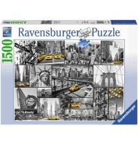 Ravensburger Puzzle - Farbtupfer in New York, 1500 Teile